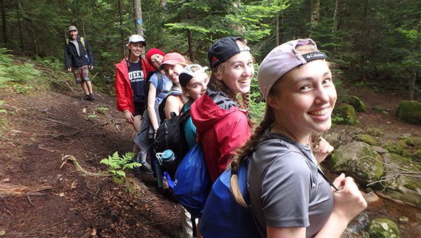 Leahurst College Students Hiking