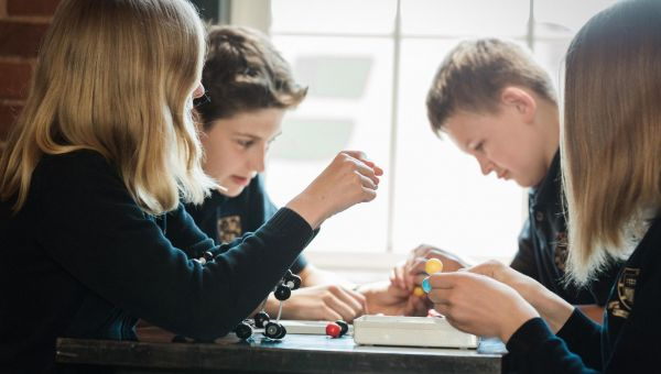 Leahurst College students working on science