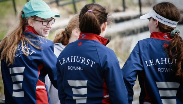Leahurst College students rowing